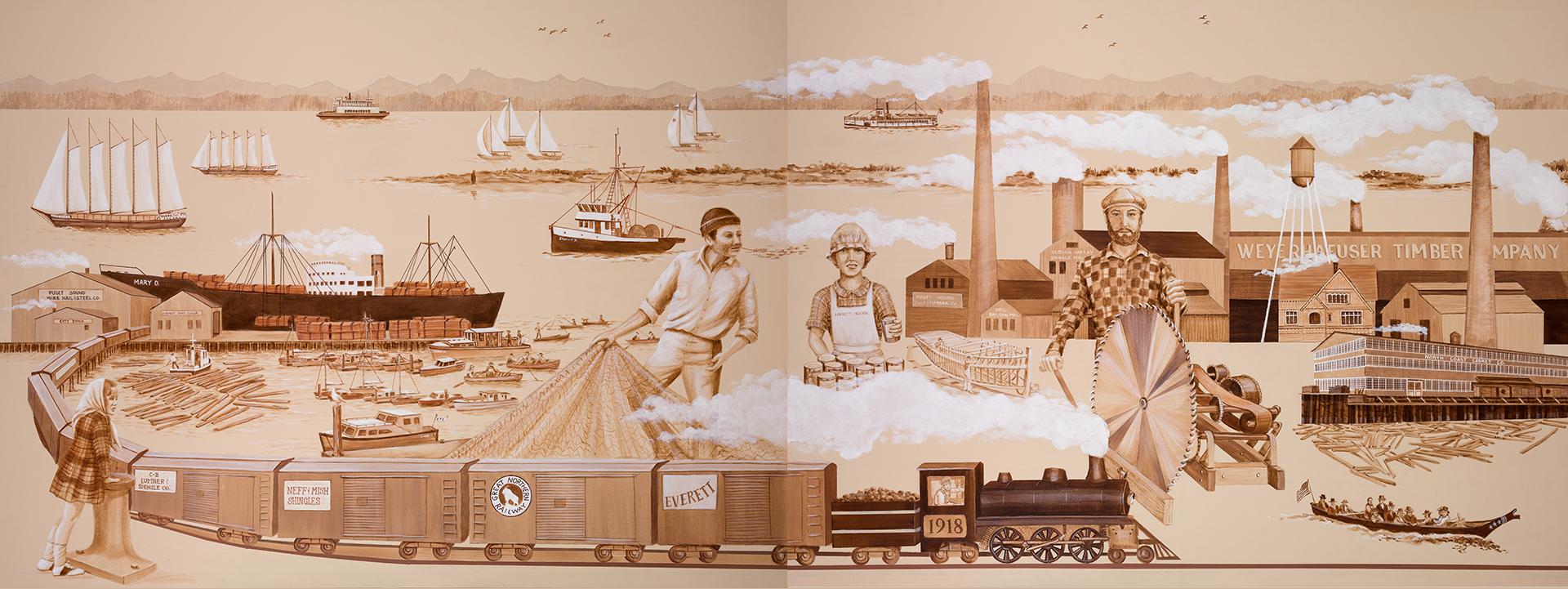 Port of Everett Mural 1
