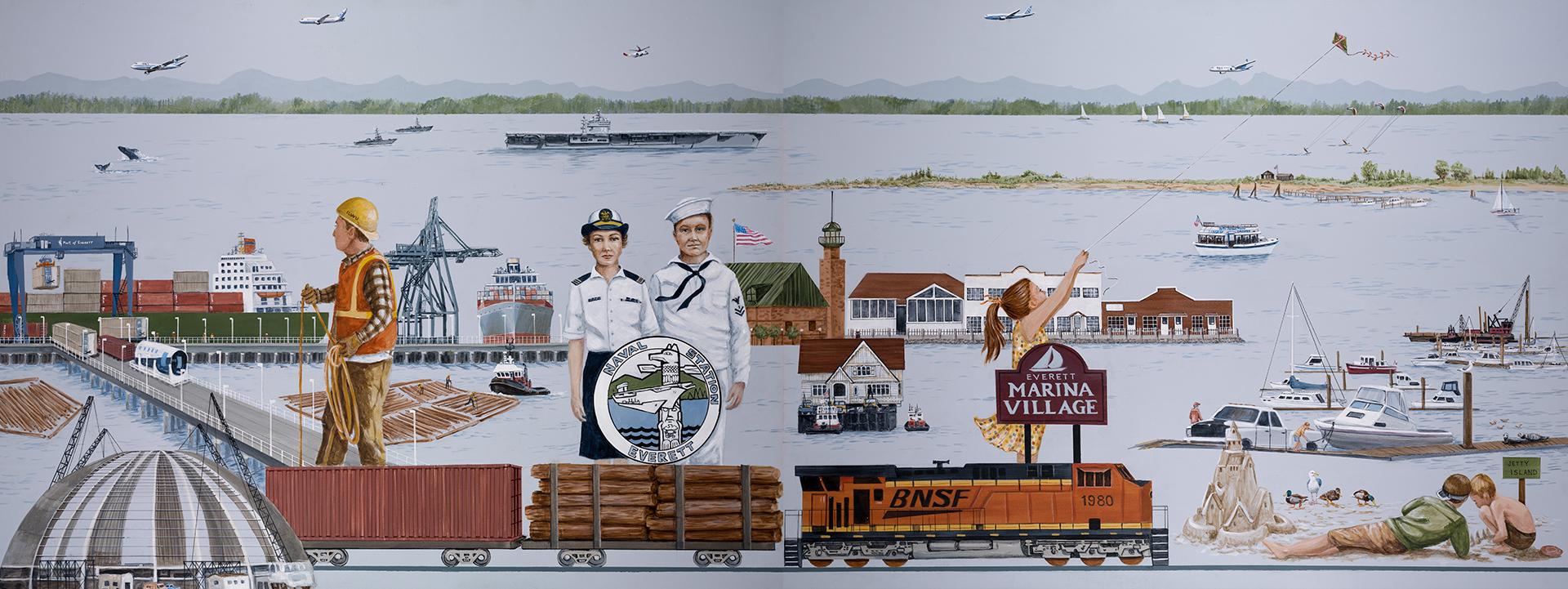 Port of Everett Mural 2