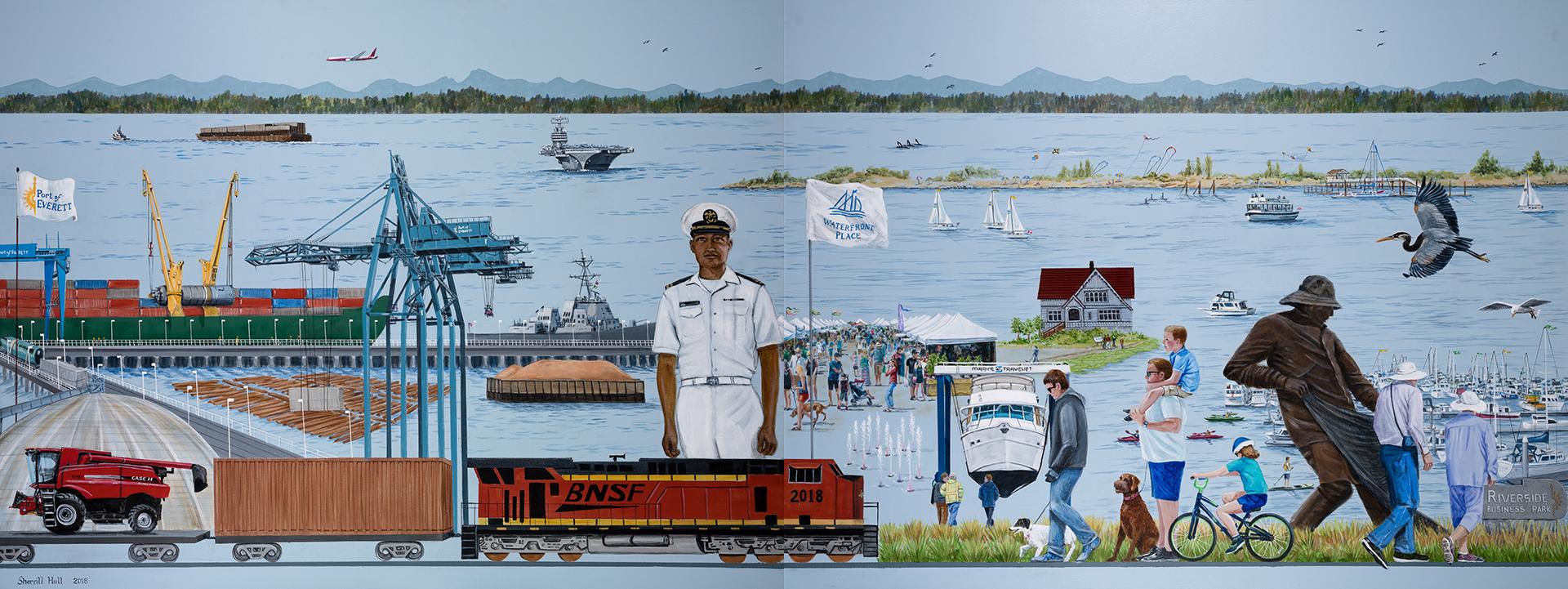 Port of Everett Mural 3
